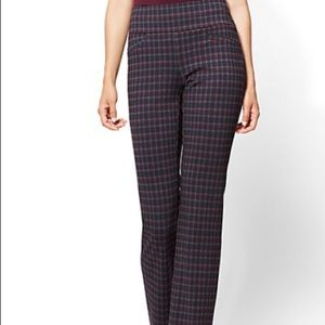 New York and Company Plaid Pull on Pants Size XL